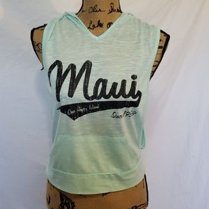NWOT Maui Hawaii Tank Top Light Green XS